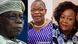 Olusegun Obasanjo, Oby Ezekwesili na Laureta Onochie