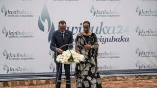 Prezida Kagame n'umupfasoni wiwe mu mihango yo kwibuka jenoside yakorewe abatutsi ku nshuro ya 24