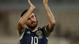 Robert Snodgrass scores a hat trick for Scotland