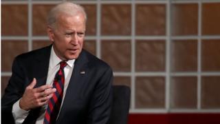Biden speaking at a university