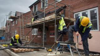 Houses under construction in Bideford, Devon.