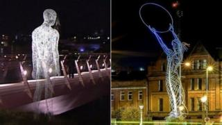 Derry's Lumiere festival in 2013 and Belfast's Beacon of Hope sculpture