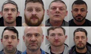 Top row left-right: Steven Hindley, Jonathan Vaiders, Michael Hutton, Hussain Mozahem. Bottom row: George Parkinson, Christopher King, Richard Grady and Daniel Aimson