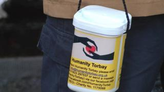 Humanity Torbay collecting box