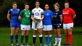 The women's six nations captains