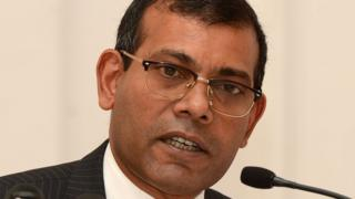 Former President of the Maldives Mohamed Nasheed in January in Colombo