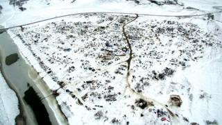 Oceti Sakowin Camp from the air.