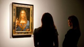 """Картина Леонардо да Вінчі """"Спаситель світу"""""""
