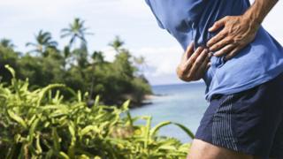 Dor na lateral da barriga durante exercício físico