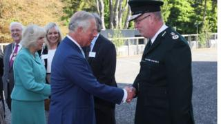 Prince Charles met PSNI Chief Constable George Hamilton at the ceremony