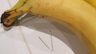 Needle in banana