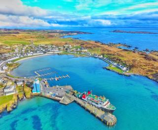 John Mackenzie sent in this photo of Port Ellen on Islay from the air