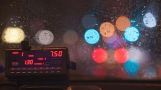 A taxi meter