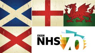 UK flags and NHS 70 logo