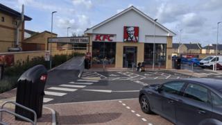 Dunton'da KFC paket servisi olan restoran