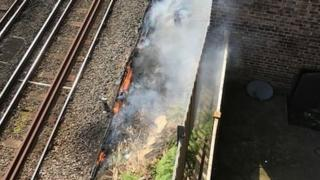 Euston track fire