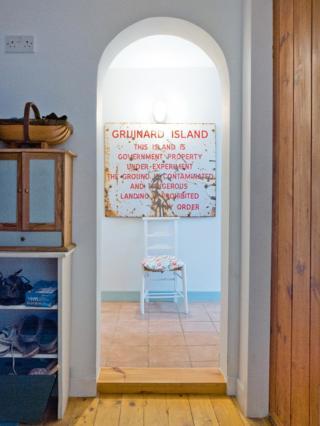 Former warning sign for Gruinard Island