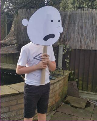 Eleven-year-old Luke is Greg from Diary of a Wimpy Kid