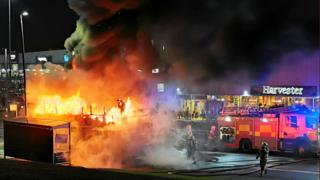 Low emission bus set on fire at Glasgow's Fort shopping centre