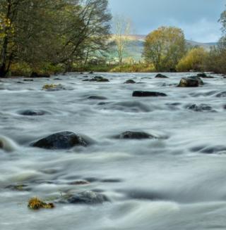 The river at Reekie Linn near Alyth