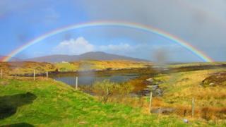 Rainbow on Barra