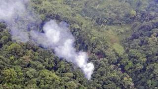 Helicopter crash in Uraba Antioquia