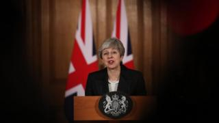 Theresa May em pronunciamento