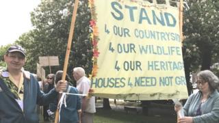 Protesters in Dorchester