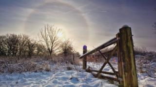 A 'sun halo' in Chorley, Lancashire
