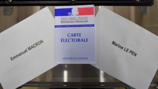 конверты с именами кандидатов в президенты франции
