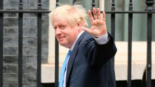 Boris Johnson outside 10 Downing Street