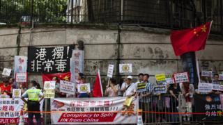 一些建制團體反對香港獨立,提倡盡快就23條立法。