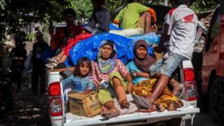 इंडोनेशिया भूंकप से तवाही