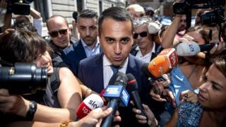 Luigi Di Maio, leader of Italy's Five Star Movement party