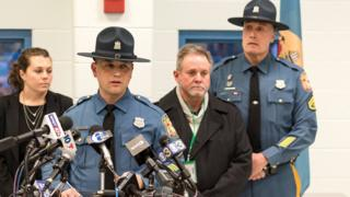 Richard Bratz, Delaware State Police, issues a statement about the hostage standoff at James T Vaughn Correctional Center in Smyrna, Delaware