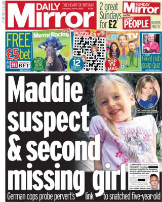 The Daily Mirror front page 6 June