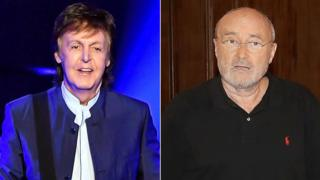 Paul McCartney and Phil Collins