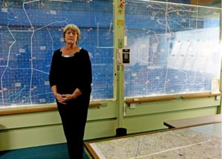 Ann Metcalfe in the York Cold War bunker