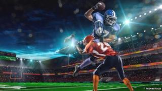 American football scene