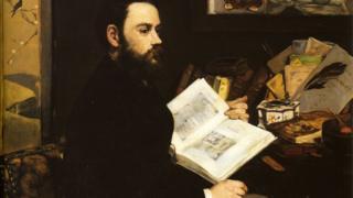 Retrato de Émile Zola pintado por Édouard Manet