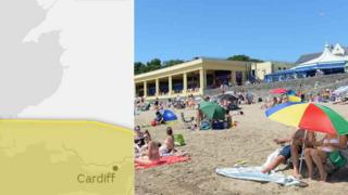 "The Met Office said Sunday's forecast was a ""stark contrast"" to weeks of hot weather"