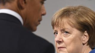 President Barrack Obama and Chancellor Angela Merkel