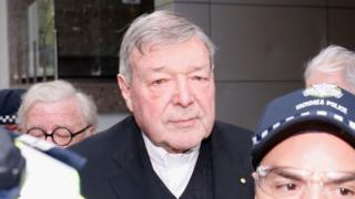 Cardinal George Pell attends a Melbourne court hearing in October
