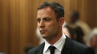 Oscar Pistorius attends his sentencing hearing in the Pretoria High Court on October 16, 2014, in Pretoria, South Africa