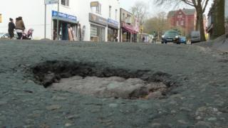 Pothole in Bristol