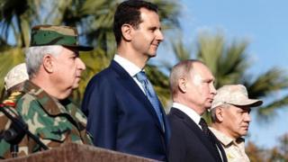 صورة أرشيفية لبوتين والأسد