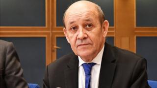 Jean-Yves Le Drian, ministre français chargé des Affaires étrangères