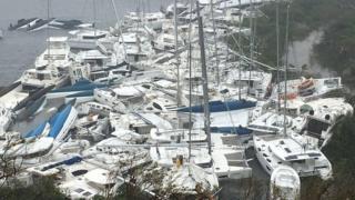 Наслідки урагану на острові Тортола - найбільшому з групи Британських Віргінських Островів