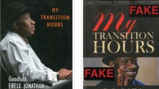 Picture of di fake and original book cover