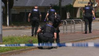 Police searching Llanrumney after a stabbing incident